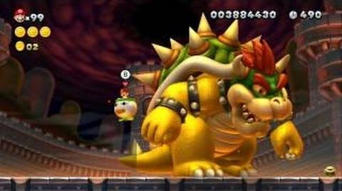 New Super Mario Bros. U - All 18 Boss Fights - Koopalings, Boom Boom, Kamek, Bowser Jr