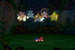 Seven Star Spirits in Goomba Village (Paper Mario)