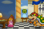 Bowser Approaching Peach (Paper Mario)