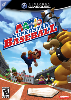 Mario Superstar Baseball - North American Boxart