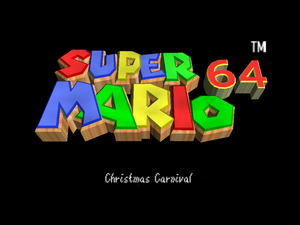 SM64 Christmas Carnival Special Title Screen