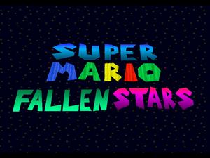 Super Mario Fallen Stars Title Screen