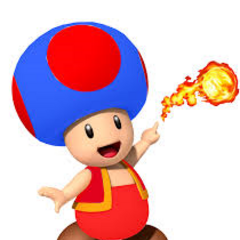 Fire Blue Toad from <i>New Super Mario Bros. Wii</i>. Bad color contrast, if I might say so myself.
