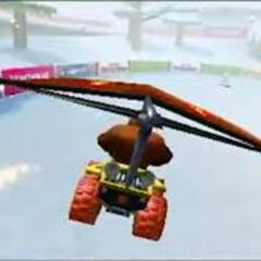 Donkey Kong gliding on DS DK Pass.