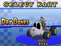 Banisher - Kart Select (Dry Bones) - Mario Kart DS