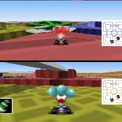 The course, as it appears in <i>Mario Kart 64</i>.