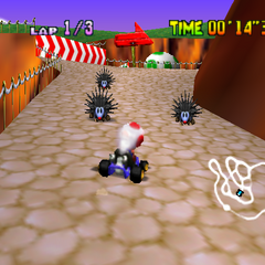Toad doing a Time Trial.