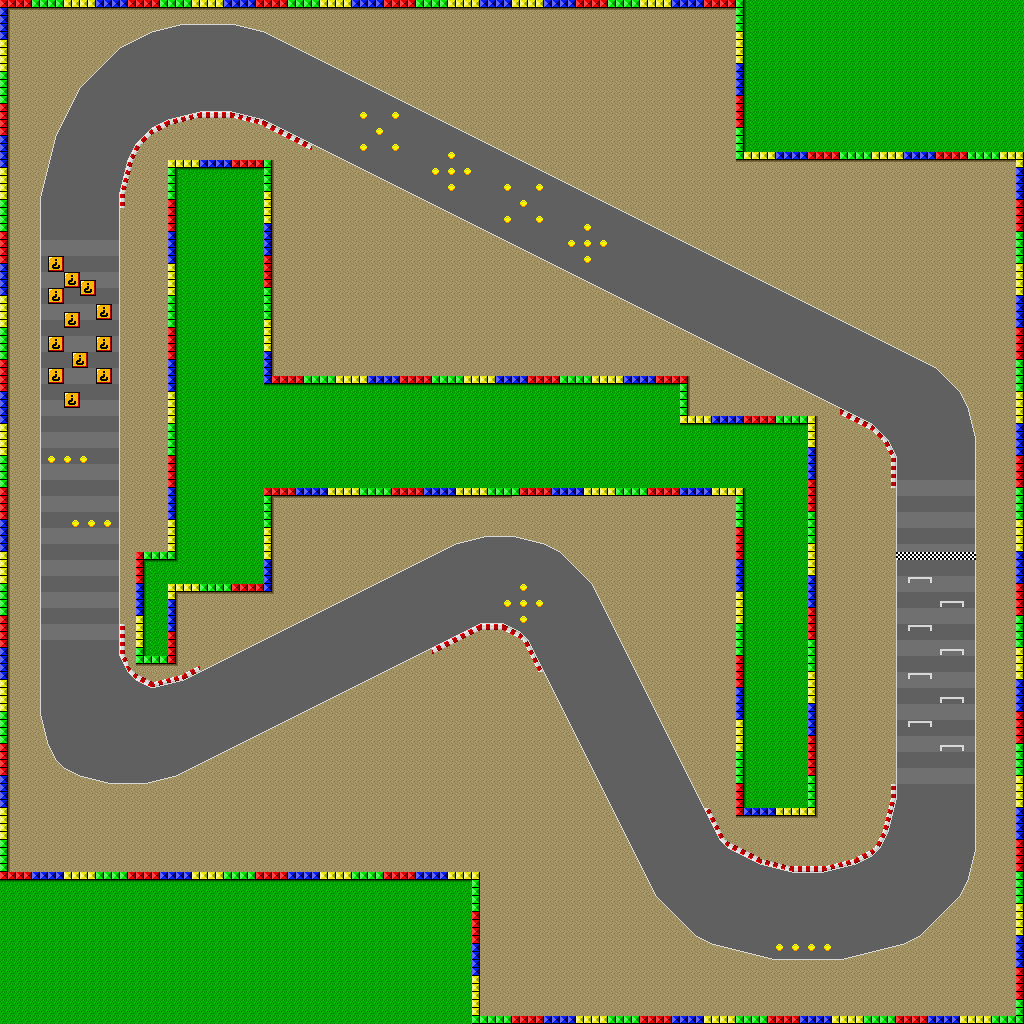 Image Snes Mario Circuit 1 Map Png Mario Kart Racing