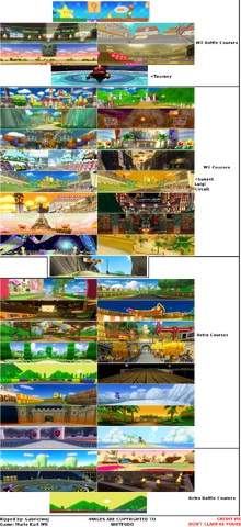 Wii - Mario Kart Wii - Course Banners
