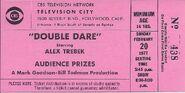Double Dare 1977 Ticket