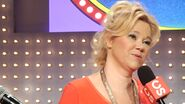 Caroline Rhea Being Interviwed on the set of Family Feud Live!