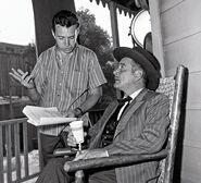 Arthur Hiller, directing Goodyear Theatre