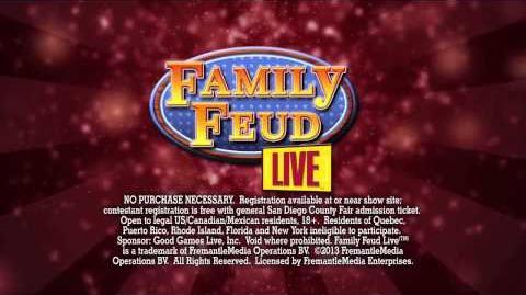 Family Feud Live! San Diego County Fair promo