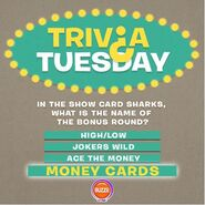 Trivia Tuesday Answer Money Cards