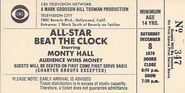 All-Star Beat the Clock Ticket