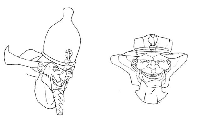 File:Martin Mystery - Pilot Episode - Concept Art (Character Design) by Nicolas Vergnaud - Pharaohs' Faces.jpg