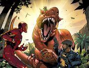 Iron Man, Outlaw, Moon-Boy, and Devil Hydrasaur