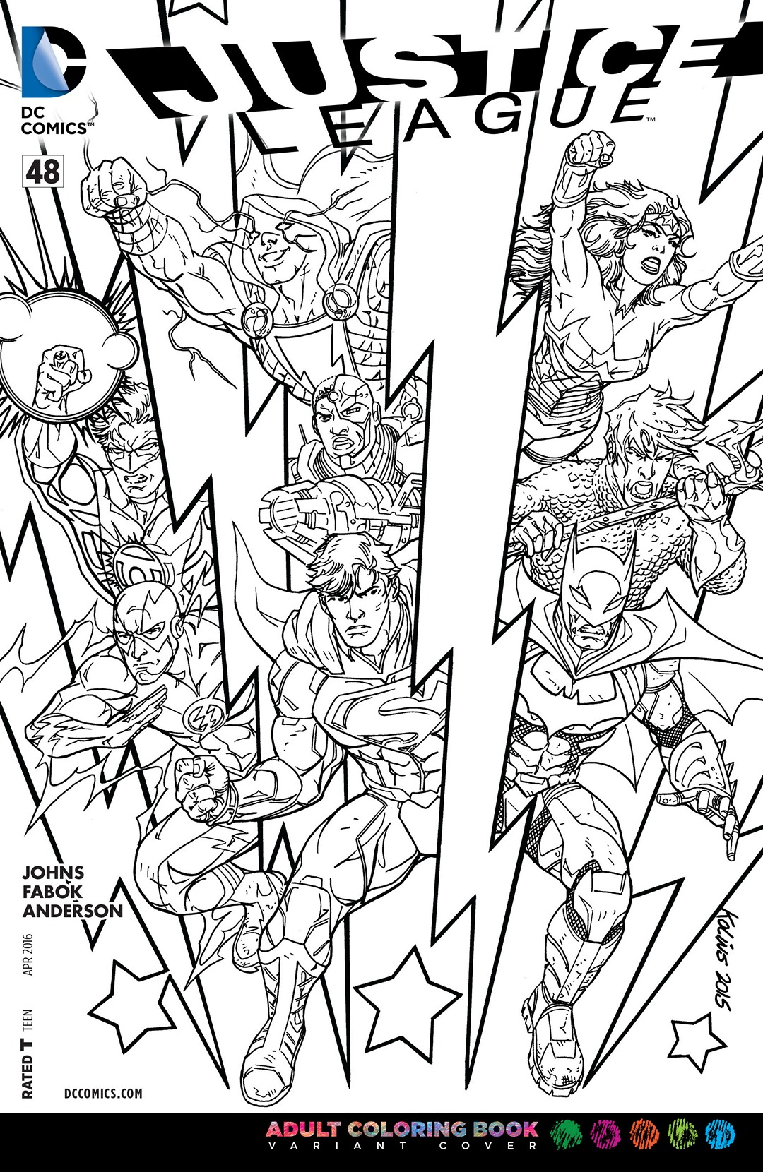image justice league vol 2 48 coloring book variant jpg