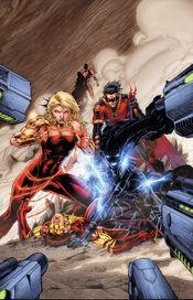 The Titans versus the Echo Chronal Authority.