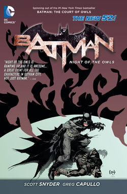 Cover for the Batman: Night of the Owls Trade Paperback