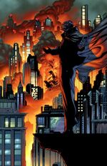 Black Mask watches Gotham burn