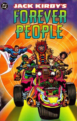 Cover for the Jack Kirby's Forever People Trade Paperback