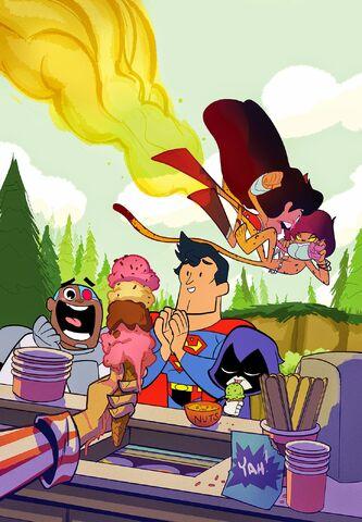 File:Superman Wonder Woman Vol 1 19 Textless Teen Titans Go! Variant.jpg