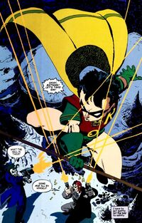 Dick Grayson's first appearance as Robin.