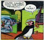 Batman chasing The Penguin