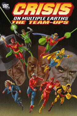 Cover for the Crisis on Multiple Earths: The Team-Ups Vol. 1 Trade Paperback