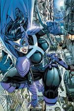 Helena Wayne, former Robin of Earth 2 and now Huntress of Prime Earth