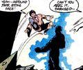 Karate Kid kicks Darkseid in the face