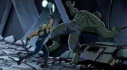 Thor Hits Hulk UA