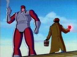 Gambit Confronts Genosha Sentinel