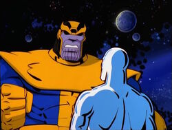 Thanos Angry At Silver Surfer