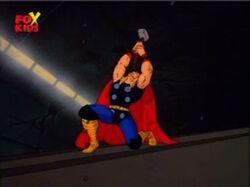 Thor Grabs Stuck Mjolnir