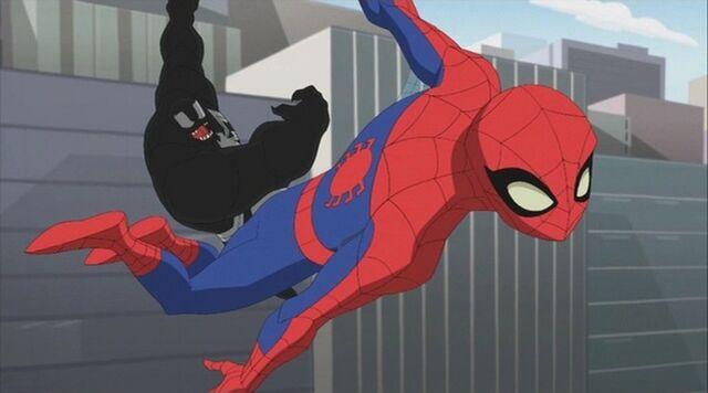 File:Venom Throws Spider-Man Air SSM.jpg