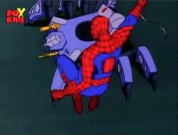 Spider-Man Swings Over Tarantula
