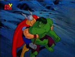 Thor Grabs Hulk