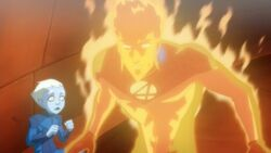 Torch Protects Kree Kid FFWGH