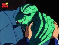Lizard Ashamed of Hand