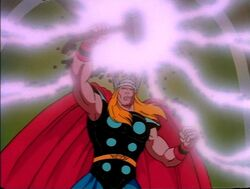 Thor Charges Mjolnir