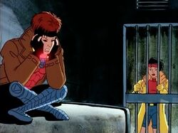 Gambit Sees Jubilee Out of Cell