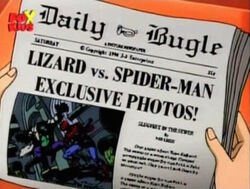 Daily Bugle Lizard vs Spider-Man
