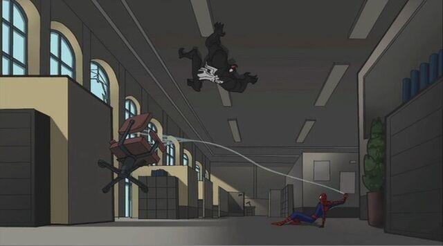 File:Spider-Man Yanks Chair SSM.jpg
