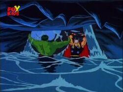 Hulk Helps Thor Stop Water