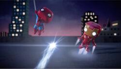 Spider-Man Iron Man Dodge Blast SBD