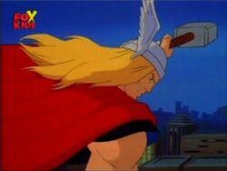 Thor Flies Hulk