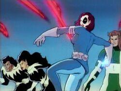 Domino Attacks Genoshan Guards