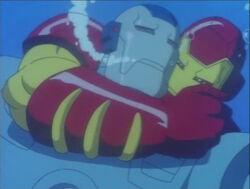 Iron Man Strangles War Machine